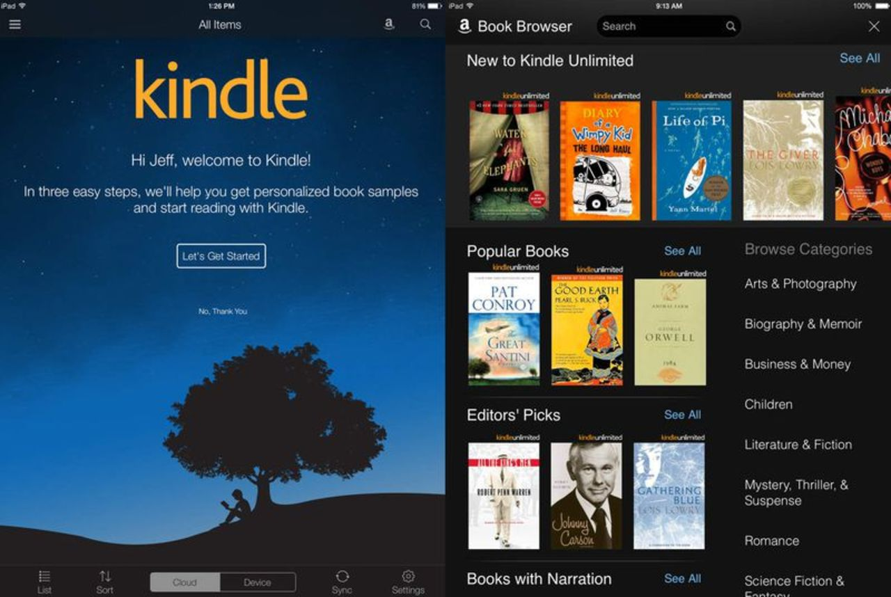 goodreads app for kindle touch